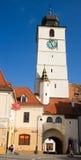Torretta del consiglio a Sibiu Fotografia Stock Libera da Diritti