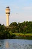 Torretta del controllo del traffico aereo Fotografia Stock