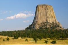 Torretta del diavolo, Wyoming Immagini Stock Libere da Diritti