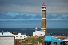 Torretta del faro di Cabo Polonio fotografia stock