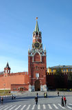 Torretta del Kremlin Spasskaya a Mosca Fotografia Stock Libera da Diritti