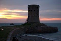 Torretta del Le hocq in Jersey Fotografia Stock
