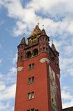 Torretta del municipio di Basilea Fotografie Stock Libere da Diritti