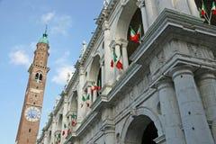 Torretta del palladiana della basilica Fotografia Stock