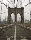 Torretta del ponte di Brooklyn Immagini Stock Libere da Diritti