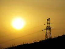Torretta del trasporto di energia Fotografie Stock Libere da Diritti