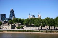 Torretta dell'orizzonte di Londra Fotografie Stock Libere da Diritti