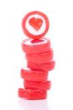Torretta della caramella del cuore Fotografia Stock