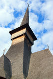 Torretta della chiesa di surdesti Immagine Stock