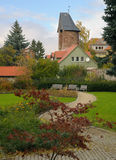 Torretta della difesa del castello di Wernigerode, Germania Immagini Stock Libere da Diritti