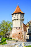 Torretta della difesa a Sibiu fotografia stock libera da diritti