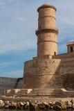 Torretta della fortezza a Marsiglia Immagine Stock