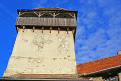 Torretta della fortezza medioevale Fotografia Stock Libera da Diritti