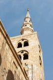Torretta della moschea del umayyad immagine stock libera da diritti