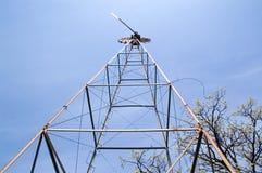 Torretta della pompa di vento immagini stock libere da diritti