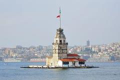 Torretta della ragazza a Costantinopoli, Turchia Immagini Stock