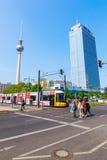 Torretta della televisione a Berlino, Germania Fotografia Stock