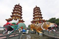 Torretta della tigre del drago Fotografia Stock