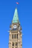 Torretta delle costruzioni del Parlamento, Ottawa di pace Fotografia Stock