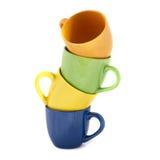 Torretta delle tazze di colore Fotografie Stock Libere da Diritti