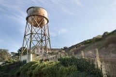 Torretta di acqua all'isola di Alcatraz Fotografia Stock