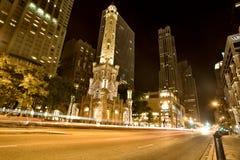 Torretta di acqua Chicago Fotografia Stock