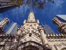 Torretta di acqua del Chicago Fotografie Stock Libere da Diritti