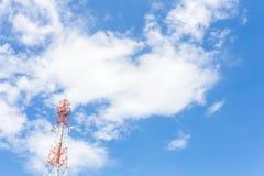 Torretta di antenna della comunicazione Fotografie Stock