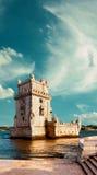 Torretta di Belem a Lisbona Fotografia Stock Libera da Diritti