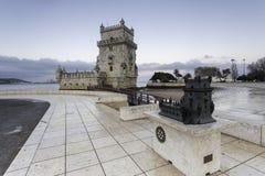 Torretta di Belem a Lisbona, Portogallo fotografia stock libera da diritti