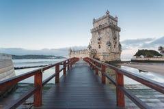Torretta di Belem a Lisbona, Portogallo fotografia stock