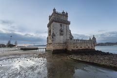 Torretta di Belem a Lisbona, Portogallo fotografie stock