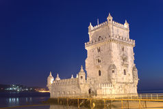 Torretta di Belem, Lisbona, Portogallo Fotografia Stock