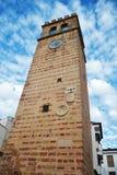Torretta di Bell con l'orologio Fotografia Stock Libera da Diritti
