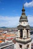 Torretta di Bell della basilica della st Stephen a Budapest Fotografie Stock Libere da Diritti