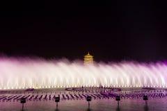 Torretta di ChangAn Ci? ? sito orticolo internazionale dell'Expo di Xi'an, torre changan Stazione turistica fotografia stock libera da diritti