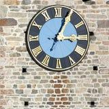 Torretta di chiesa con l'orologio Fotografia Stock