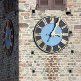 Torretta di chiesa con l'orologio Fotografia Stock Libera da Diritti