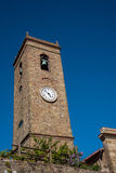 Torretta di chiesa con l'orologio Immagine Stock