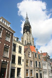 Torretta di chiesa di Delft Fotografie Stock Libere da Diritti