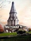 Torretta di chiesa di fantasia Fotografie Stock