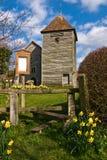 torretta di chiesa di legno Immagini Stock