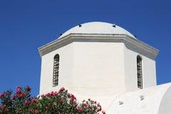 Torretta di chiesa di Santorini Fotografia Stock