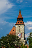 Torretta di chiesa nera, Brasov Fotografia Stock Libera da Diritti