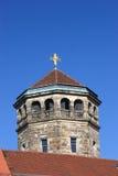 Torretta di chiesa ortogonale Fotografie Stock Libere da Diritti