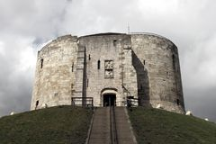 Torretta di Clifford, York, Regno Unito Immagine Stock Libera da Diritti