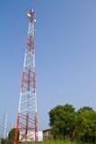 Torretta di comunicazione del telefono mobile Immagini Stock