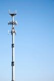 Torretta di comunicazione di microonda Immagini Stock Libere da Diritti