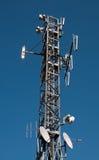 Torretta di comunicazione: GSM, Umts, 3G e radio Immagini Stock Libere da Diritti