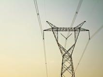 Torretta di elettricità fotografie stock